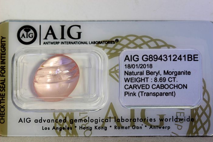 Morganite - 8.69 ct - Pink