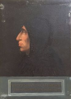 (Signed Follini on the back) Artist unknown (end of XIX° century) - Portrait de Girolamo Savonarola