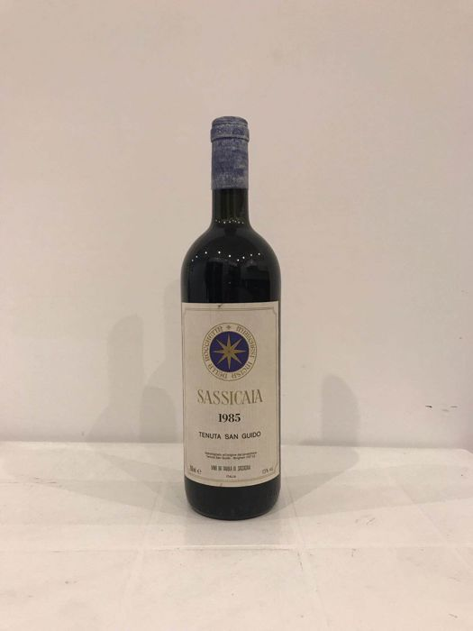 1985 Sassicaia, Tenuta San Guido - 1 bottle - 100 Parker Pts