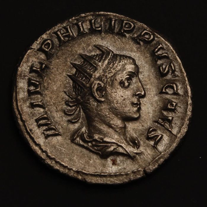 Roman Empire - Philip I. Arabs (244-249 AD) for Philip II. Caesar. AR Antoninianus Rome, 244-247 AD.