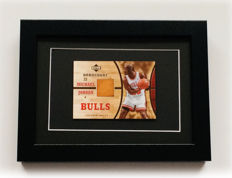 Variant Panini - Upperdeck - Michael Jordan #23 - Game-Used Card with Authentic Piece of a HardWood used in a NBA Game by the Legend