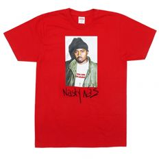 Supreme Nas Tee Red - T-Shirt