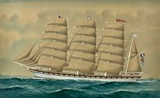 French school - The French sailing vessel Madelenie
