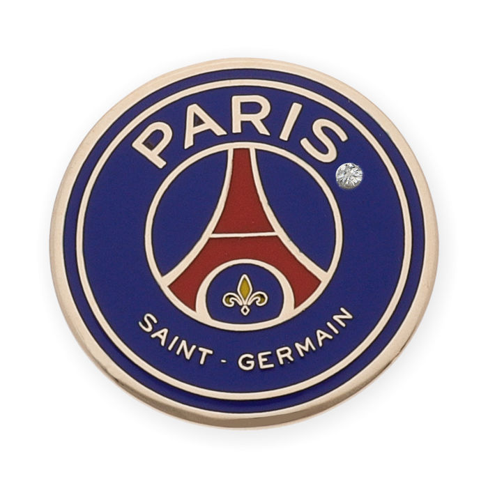 Emblem of Paris Saint Germain enameled and made of 18 kt yellow gold with brilliant cut diamond