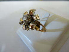 Gold ring made in the 1950s by an artisan goldsmith in Florence