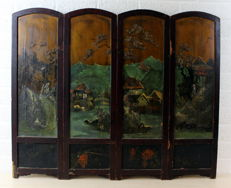 Four panels with Asian decorations - China - first half of the 20th century