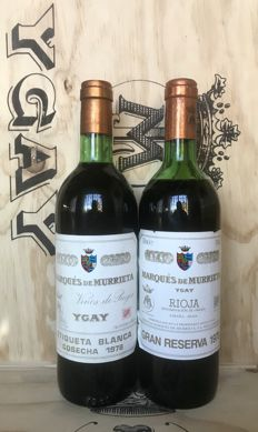 1978 Marques de Murrieta Ygay Gran Reserva & 1978 Marqués de Murrieta Etiqueta blanca - 2 Bottle (75cl)