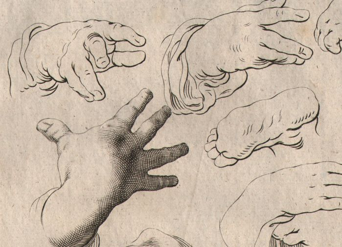 Abraham Bloemaert (1564-1651) - Study of a hands - Drawing book