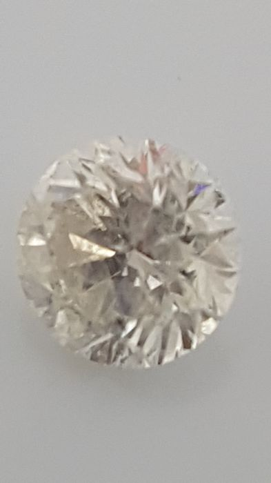1.35 ct - Round Brilliant - White - G / SI2