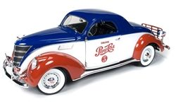 Auto World-Ertl - Scale 1/18 - Lincoln Zephyr 2 door Coupé 1937 - Pesi Cola