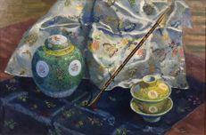 Harry Smith (20th century) - Still life of Chinese items