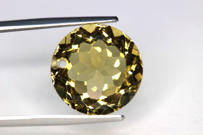 Citrine – 9.22 ct – Intense Greenish Yellow – No Reserve Price
