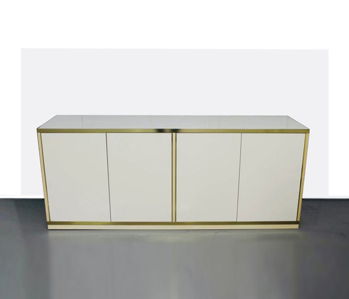 J C Mahey - sideboard in high value paintwork and brass details in typical Mahey style