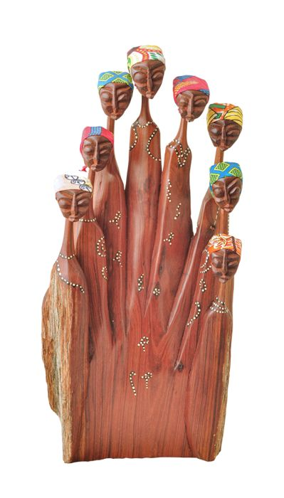 Wooden carving of a Family - South Africa