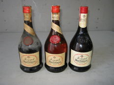 3 bottles of brandy Monopol Martinazzi - Bottled 1960s