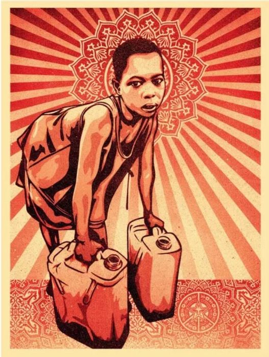 Shepard Fairey (OBEY) - Yellow Cans