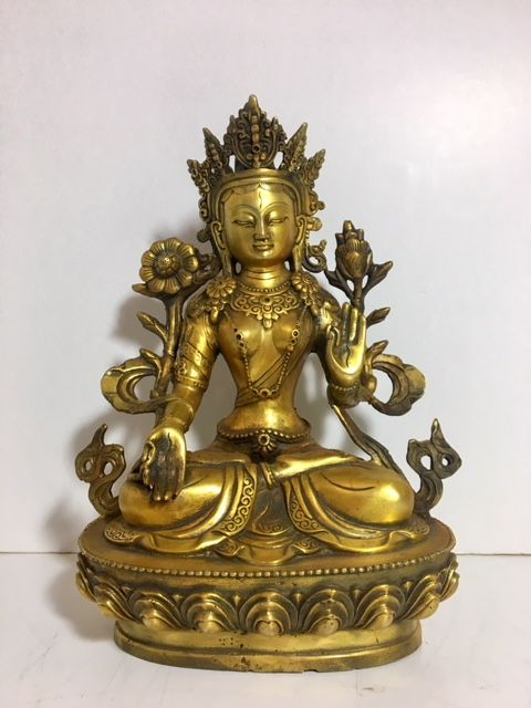 Bronze White Tara - China - late 20st century (29 cm)