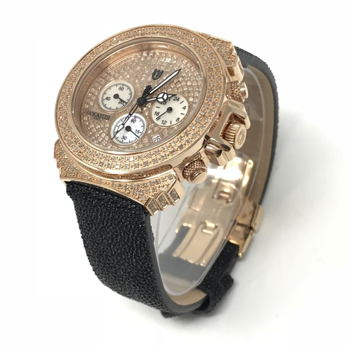 Lancaster - Pillo Deco' Diamond Watch 39 mm Rose Gold 3.59 ct  - OLA0428G/NR - Women - 2011-present