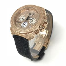 Lancaster - Pillo Deco' Diamond Watch 39 mm Rose Gold 3.59 ct  - OLA0428G/NR - Dames - 2011-heden