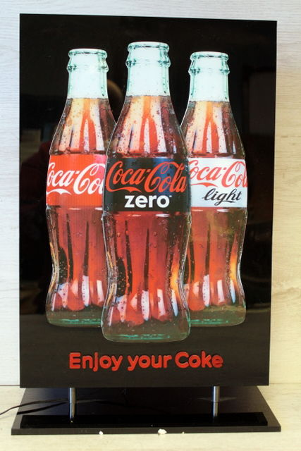 Advertising column with lighting - Coca Cola - 21st century
