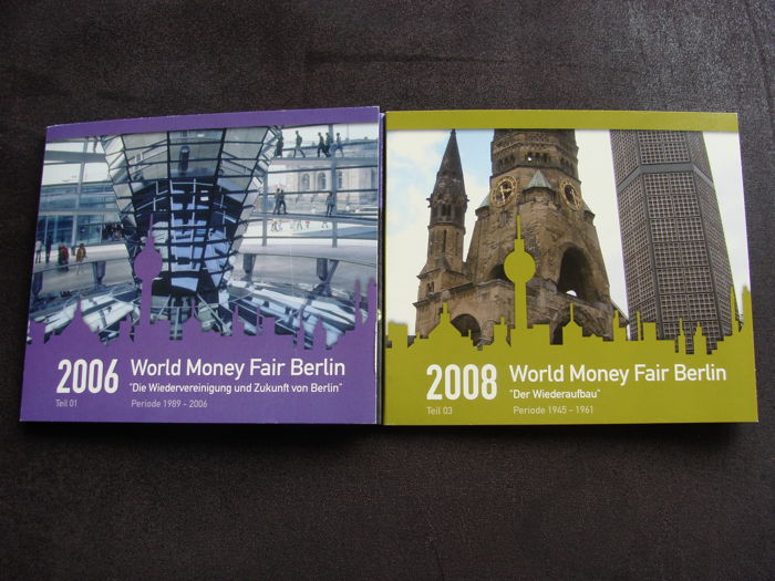 The Netherlands – Year pack WMF Berlin 2006 + 2008 in blister (2 pieces)