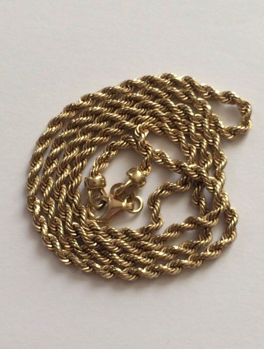 """Twist Rope Chain Necklace"" 18ct Solid Yellow Gold 4.70gr. 48 cm."