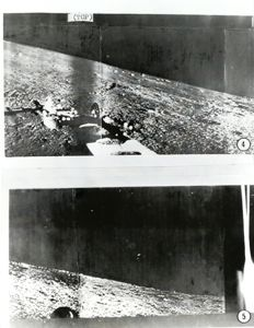TASS/UPI TELEPHOTO  - Moon surface by the Soviet spacecraft Luna 13, 1966