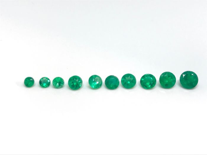 Emeralds - 2.05 ct total
