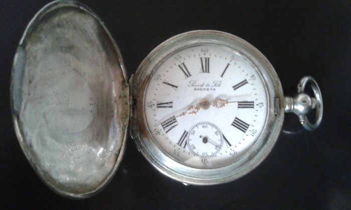 Perret &Fills (Brenets) Men's Pocket Watch - Late 1800s.