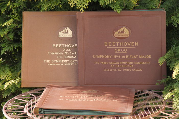 Three Collection Albums From His Master Voice 78 Toeren Beethoven 55 And 60