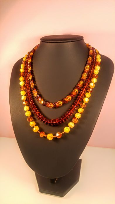 Lot-3  Baltic Amber Necklace.