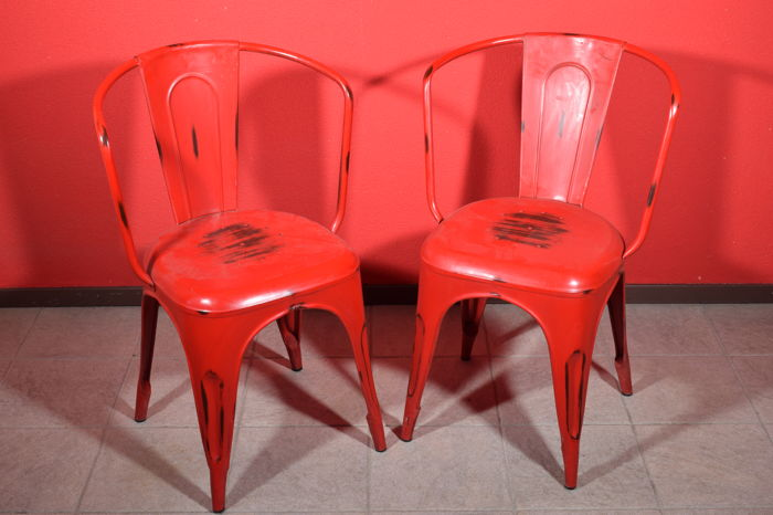 Unknown designer - Industrial metal vintage chairs for sale