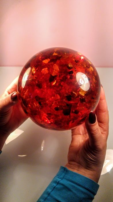 Beautiful Composite Baltic amber Ball, Sphere - 1,817 kg
