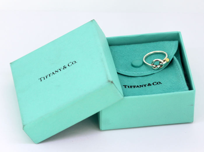 Tiffany & Co - Sterling Silver and 18K Gold ladies ring, c.1990's - Size UK: L US: 6 EU: 51 1/2