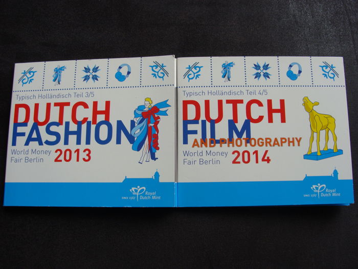 Pays-Bas - Jaarset 2013 'WMF Berlijn Dutch Fashion' +  2014 'Dutch Film' in blister (2 stuks)