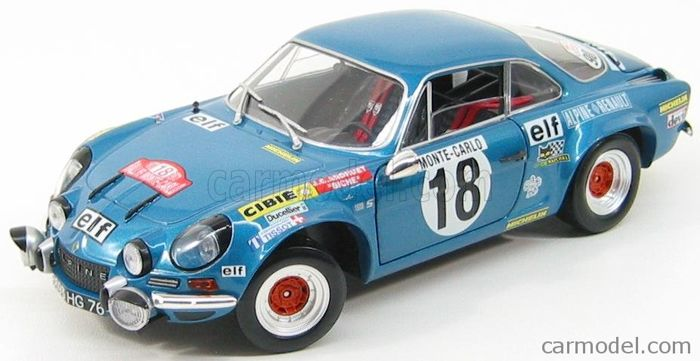solido racing collection scale 1 18 alpine renault a110 winner of rallye monte carlo 1973. Black Bedroom Furniture Sets. Home Design Ideas