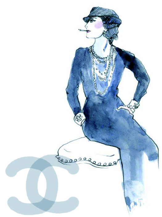 6000fcdcf6ed Large collection of beautiful vintage art prints - Coco Chanel (19 ...