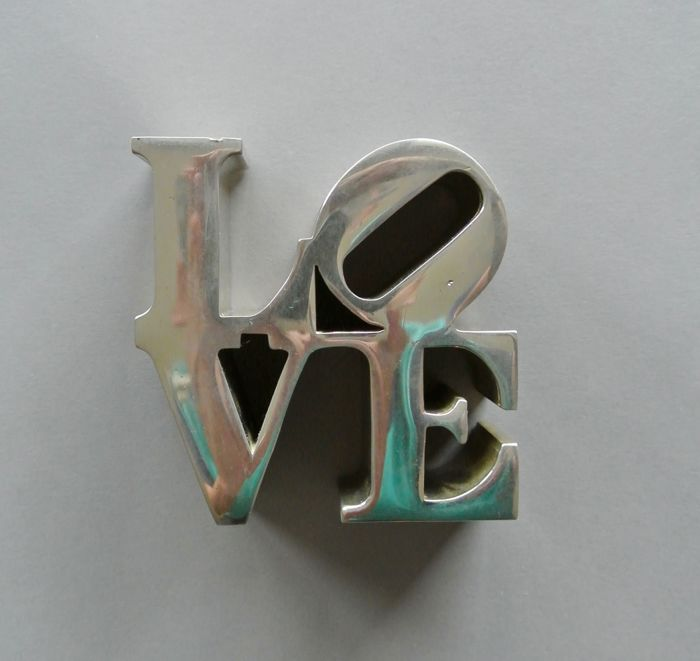 Robert Indiana  - LOVE Chrome Metal Sculpture