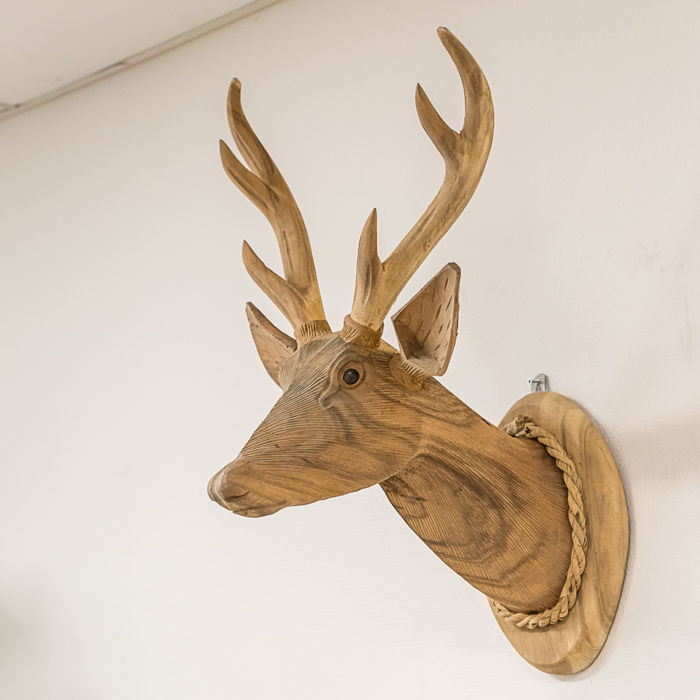 Beautiful wooden deer image
