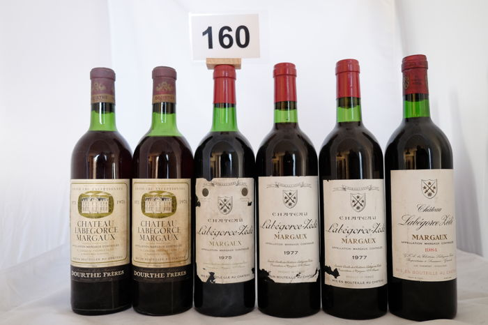 2x 1971 Chateau Labegorce, Margaux, 1x 1975, 2x 1977, 1x 1984  Chateau Labegorce-Zede, Margaux, France Total of 6 bottles