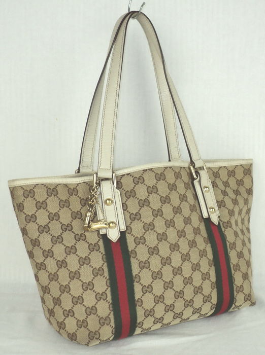 0938f295b Gucci - GG Monogram Canvas & Leather Sherry Line Tote/Shoulder Bag ...