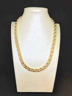 Chimento - Necklace in 18 kt yellow and white gold with 0.01 ct diamond