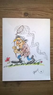 Batem - Original drawing in colour - Bring M. Backalive - Le Méchant Chasseur - (2014)