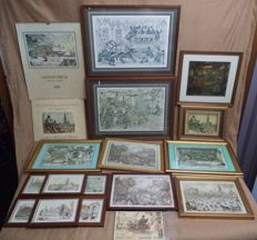 Lot of 23 Anton Pieck items, prints, calendar, postcards