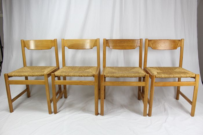 Design Stoelen Vintage.Manufacturer Unknown Set Of 4 Retro Vintage Scandinavian