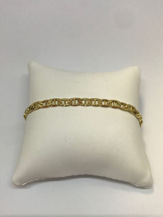 18 kt yellow gold bracelet - Weight: 6.3 g, length: 20 cm