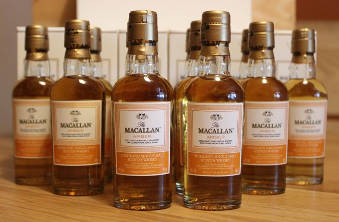12 miniatures - Macallan Amber 1824 Series - 5cl