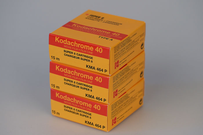 3x Kodachrome 40 super 8 film cartridges
