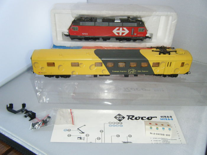 Lima, Roco H0 - 4178C - Electric locomotive, Passenger carriage - Re 4/4 IV  - SBB-CFF