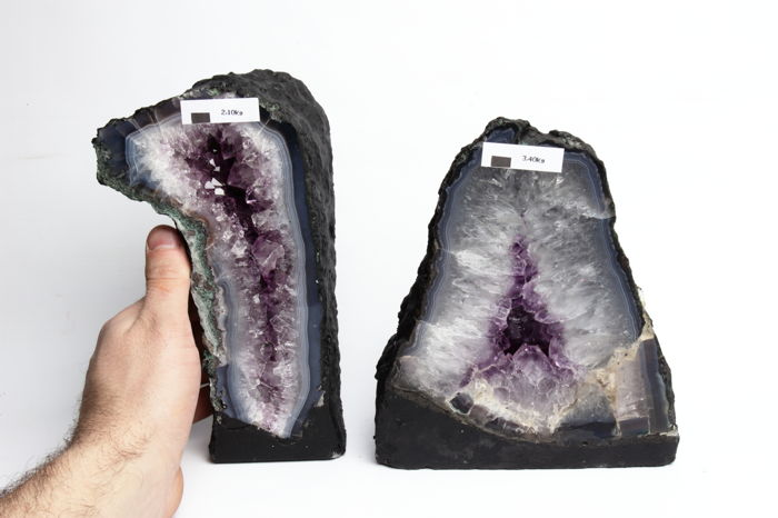 Amethyst geode set - 20 until 21.5 cm - 5500 gm